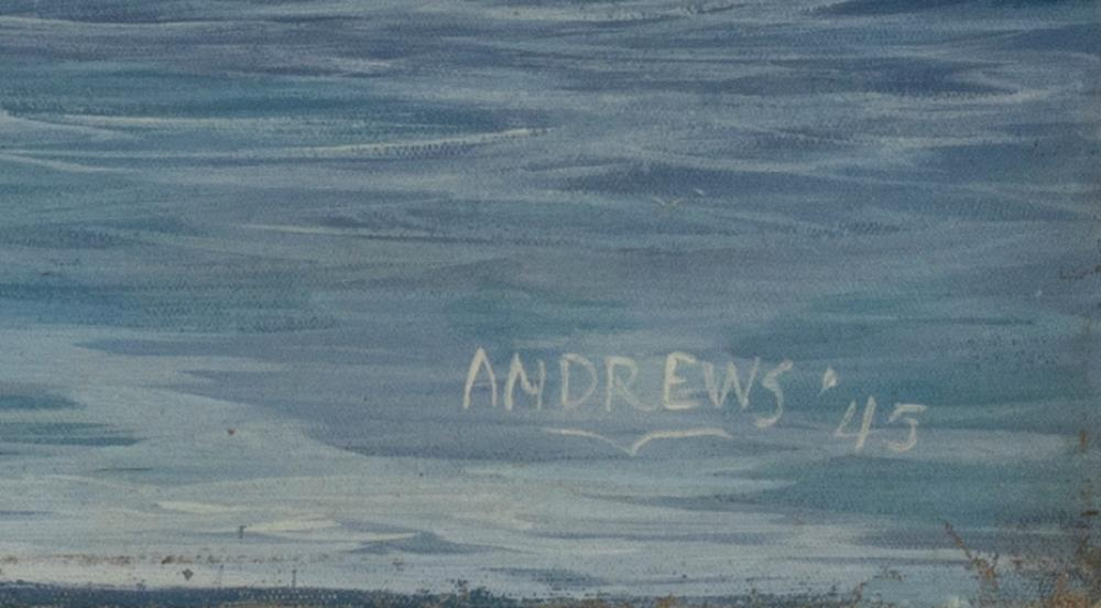 WALTER ANDREWS, Pennsylvania, 1905-1969, Seascape., Oil on canvas, 28