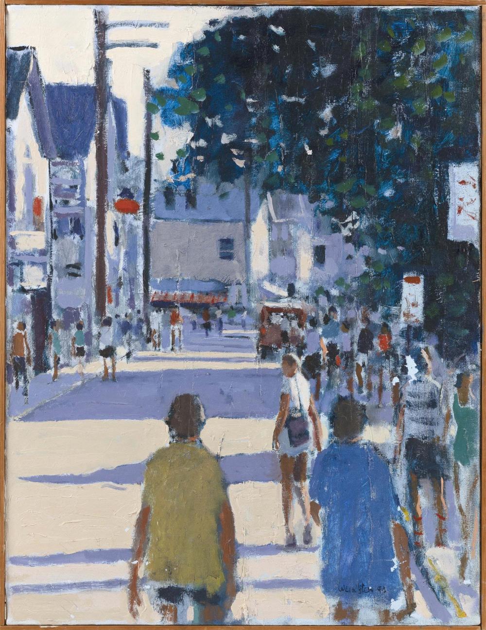 "ROBERT WEINSTEIN, Vermont/New York, 20th Century, ""Cape in August"", Provincetown, Massachusetts., Oil on canvas, 26"" x 20"". Framed 2..."