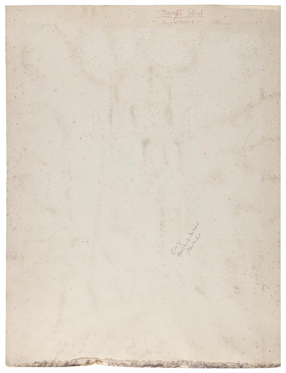 MARSHALL DUBOCK, America, b. 1943, Brant Point Lighthouse, Nantucket, Massachusetts., Gouache on paper, 27