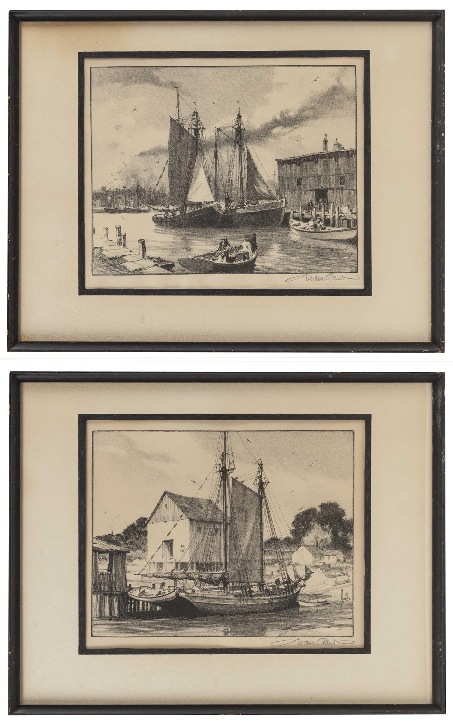 "GORDON HOPE GRANT, New York/California/United Kingdom, 1875-1962, Pair of prints:, Both 10"" x 12"" sight. Framed 15"" x 19""."