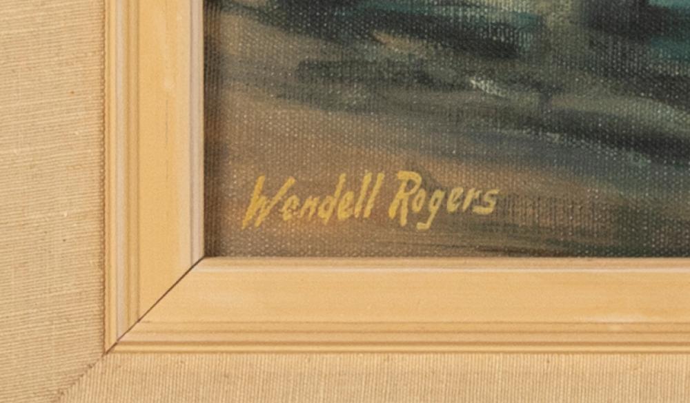 WENDELL M. ROGERS, Massachusetts, 1890-1973, Harbor scene., Oil on canvas, 25