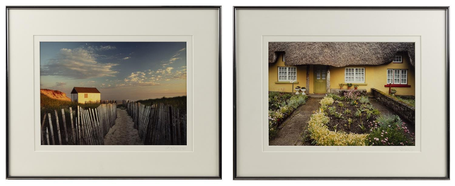 TWO FRAMED PENCIL-SIGNED COLOR PHOTOGRAPHS BY RONALD WILSON 1) Dionis Beach, Nantucket, Massachusetts. 2) Adare, Co. Limerick, Irela...