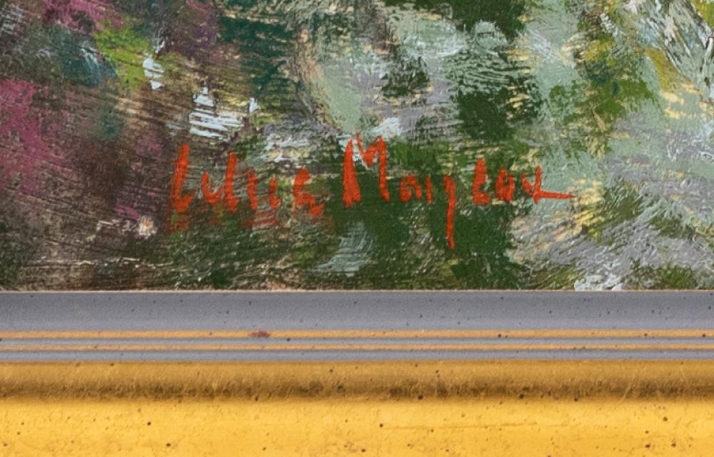 ALICE MONGEAU, Massachusetts, Contemporary, Cottage in a summer landscape., Oil on board, 12