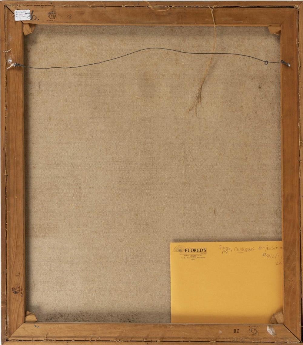 JOHN THATCHER FRAZER, Connecticut/Ohio, b. 1932, Hillside abstract., Oil on canvas, 32