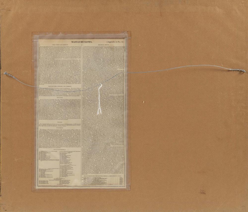 MAP OF MASSACHUSETTS Titled upper right margin