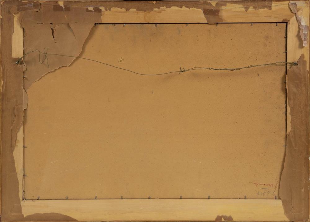 CHARLES E. DUNCAN RODICK, Massachusetts/Maine/Nova Scotia, 1874-c.1940, Dock scene., Oil on artist board, 20