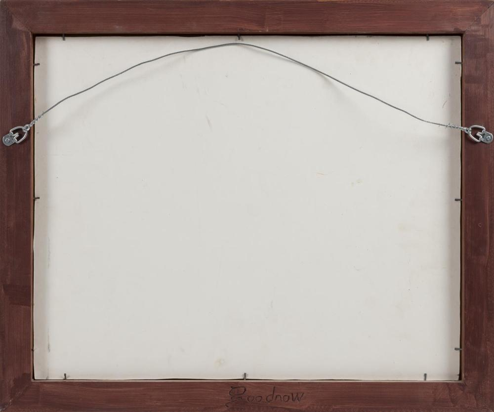 GILT WOOD FRAME BY PAUL CARTER GOODNOW (1958-2012) Carved signature on back. Aperture 21