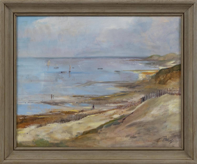 "CAPE COD SCHOOL, 20th Century, Bayside view, Eastham, Massachusetts., Oil on canvas, 16"" x 20"". Framed 20"" x 23.5""."