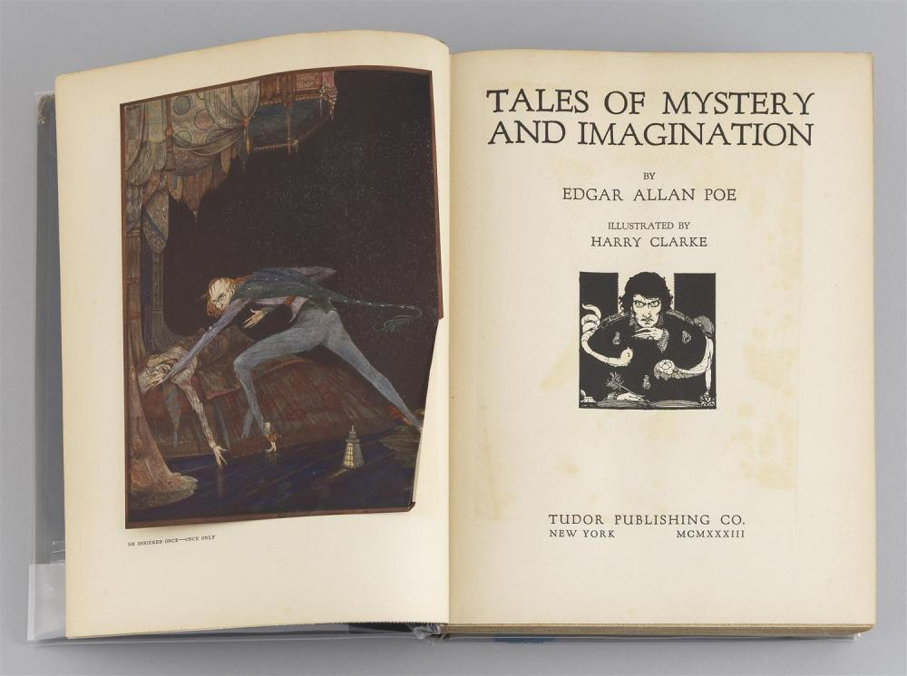 VOLUME TALES OF MYSTERY AND IMAGINATION By Edgar Allan Poe, illustrated by Harry Clarke (New York: Tudor Publishing Co., 1933). Blac...