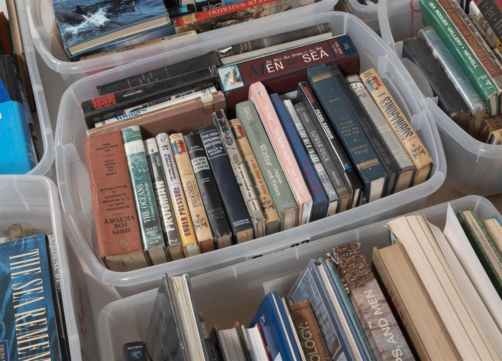 APPROX. 264 MARINE AND MILITARY RELATED BOOKS