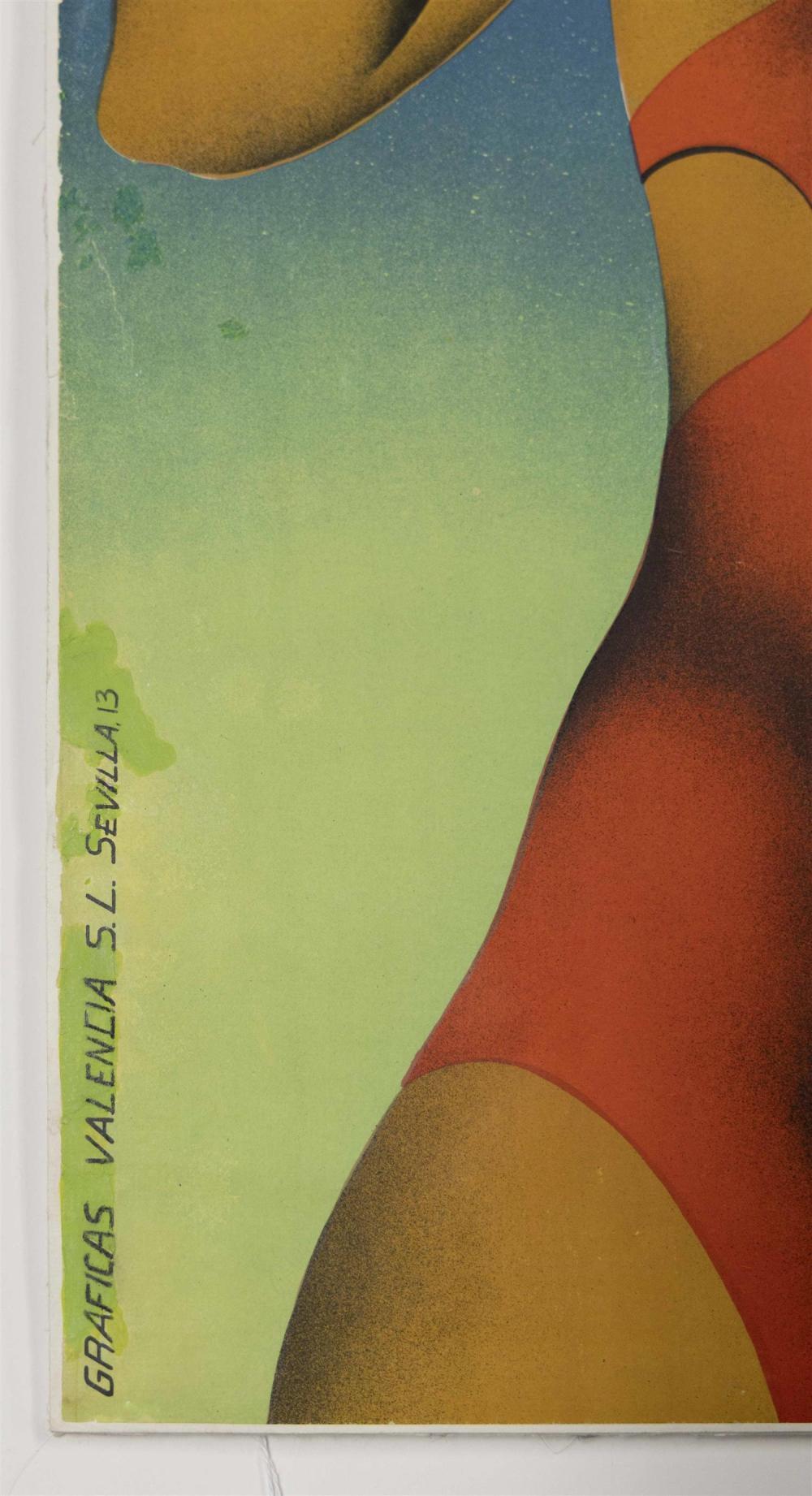 SPANISH ART DECO TRAVEL POSTER DESIGNED BY JOSEP RENAU-MONTORO