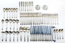 DIMES STERLING SILVER FLATWARE SERVICE In the