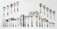 ASSORTED STERLING SILVER FLATWARE By makers including Kalo, S. Kirk, G.T. Sadtler, and Wendell Manufacturing. Together with silver p...