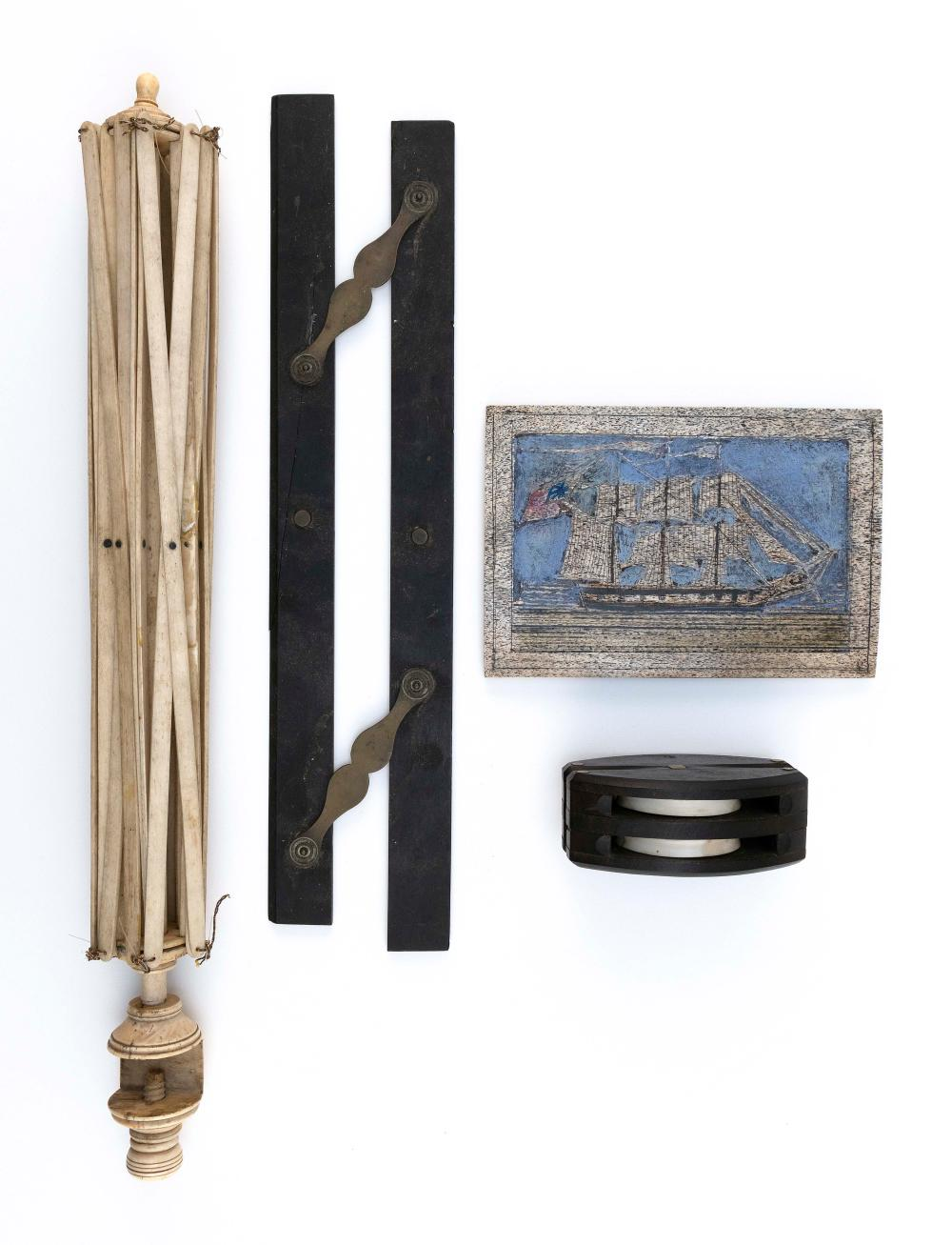 * FOUR MARITIME-RELATED ITEMS 19th and 20th Century