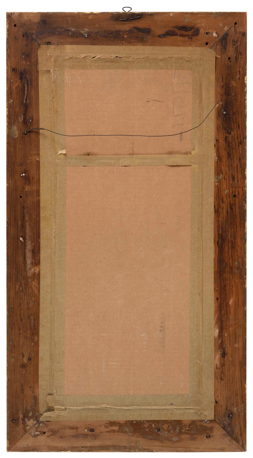 FEDERAL HALF-COLUMN MIRROR America, Circa 1825 Height 36