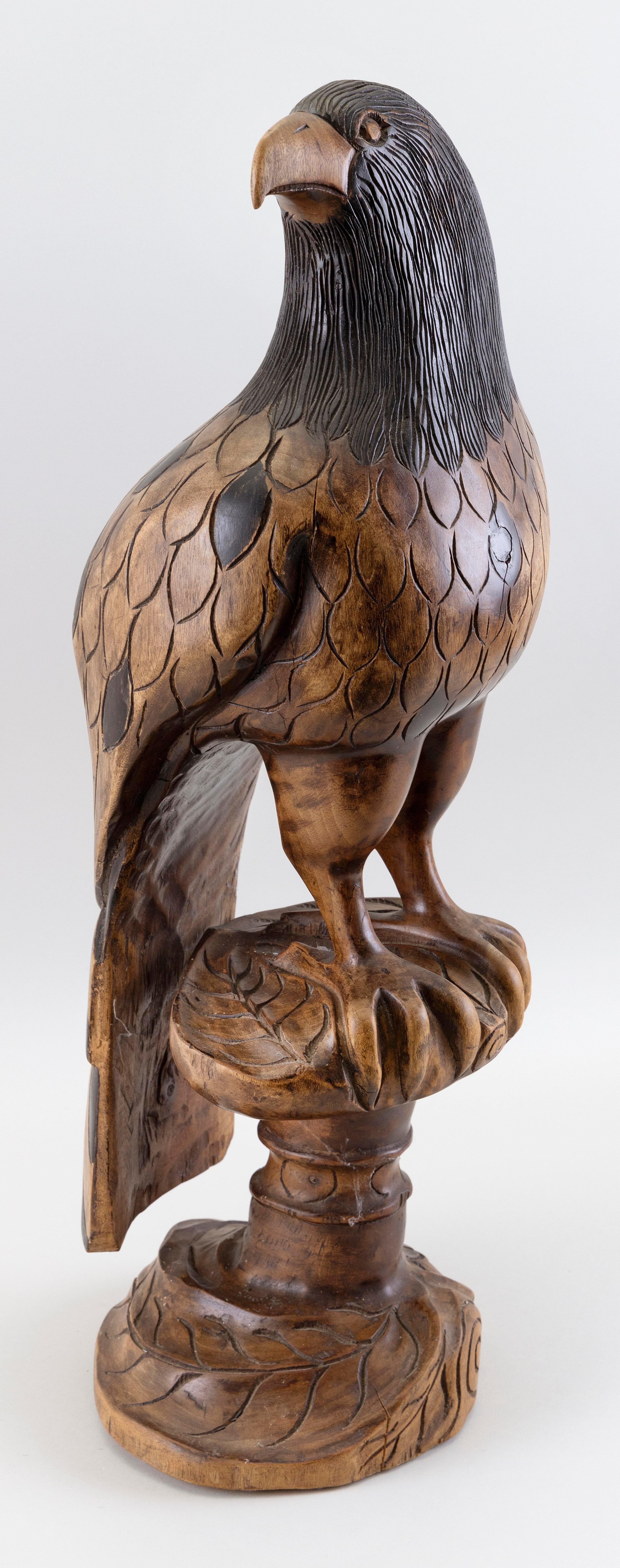 """CARVED WOOD EAGLE Contemporary Height 25""""."""