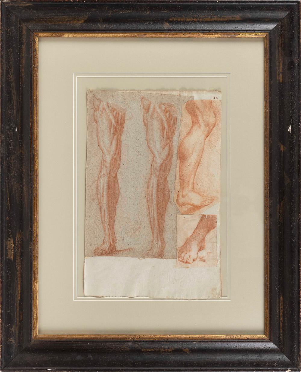 """OLD MASTER DRAWING (17th/18th Century,), , On paper, 16.5"""" x 10.5"""". Framed 30"""" x 24""""."""