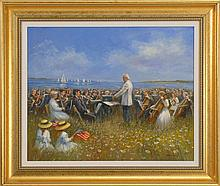 SUSAN O'BRIEN MCLEAN, Cape Cod, Contemporary, The Pops in the Park., Oil on canvas, 20