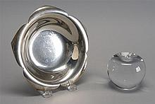 TIFFANY STERLING SILVER CANDY DISH. Diameter 6.75