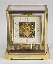 20TH CENTURY FRENCH CASED BRASS ATMOS CLOCK by LeCoultre. Height 9.5