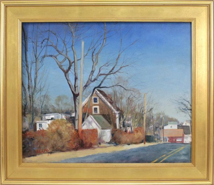 FRANK MILBY, Cape Cod, Contemporary, Cape Cod House., Oil on canvas, 20