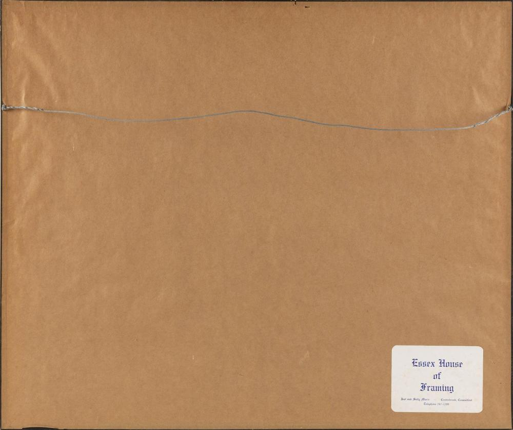 FRANCOISE OKLAGA, Canada, 1924-1991, Ookdik, 1988., Stencil and woodcut, 16.5