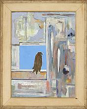 """ENIT KAUFMAN, New York, 1897-1961, """"The Blue Bird""""., Oil on canvas, 29"""" x 22"""". Framed 36"""" x 29""""."""