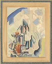 "ENIT KAUFMAN, New York, 1897-1961, Abstract., Oil on canvas, 26"" x 20"". Framed 27"" x 33""."