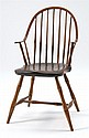 CIRCA 1810 CONTINUOUS WINDSOR SIDE CHAIR with bamboo turned legs.