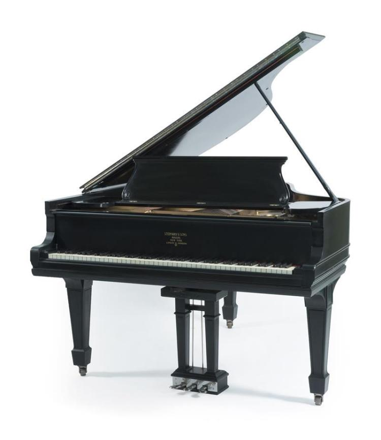 steinway baby grand piano model o serial 118608 height 3