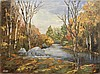 FRANK MILBY, American, Contemporary, Autumn landscape with stream., Oil on canvas, 18