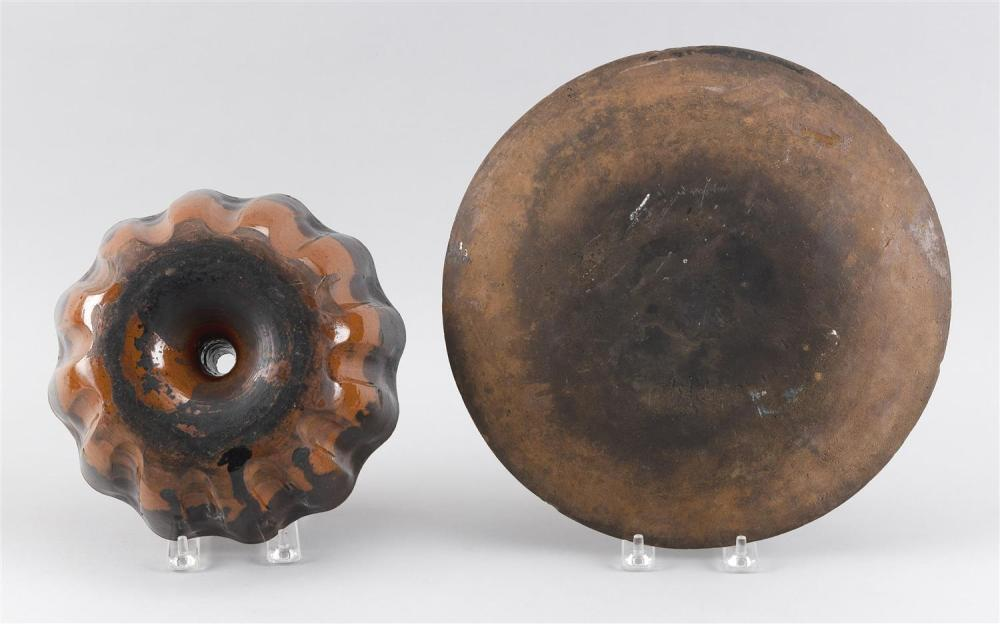 TWO PIECES OF REDWARE