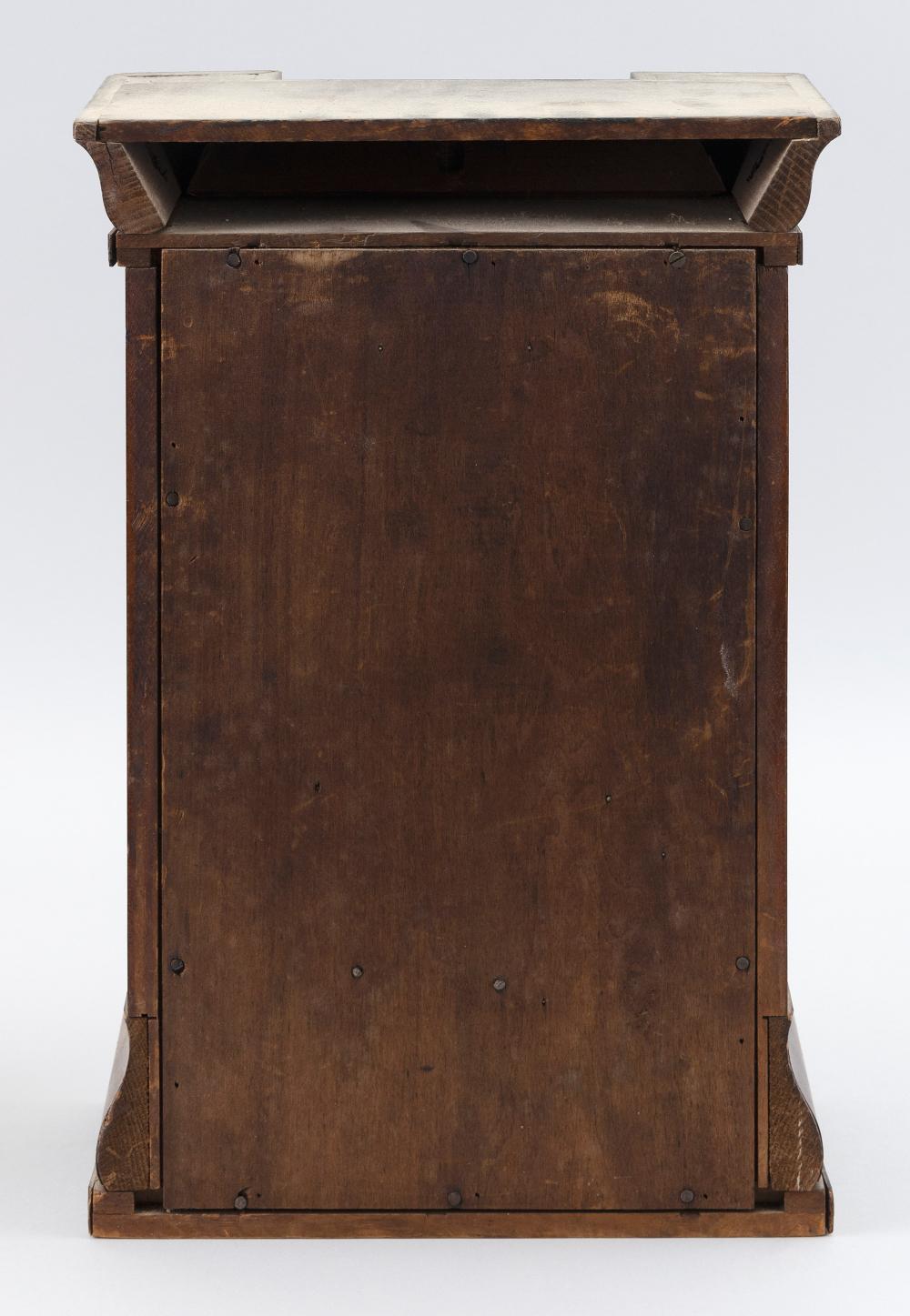 SETH THOMAS HALF-SIZE PILLAR CLOCK 19th Century Height 16
