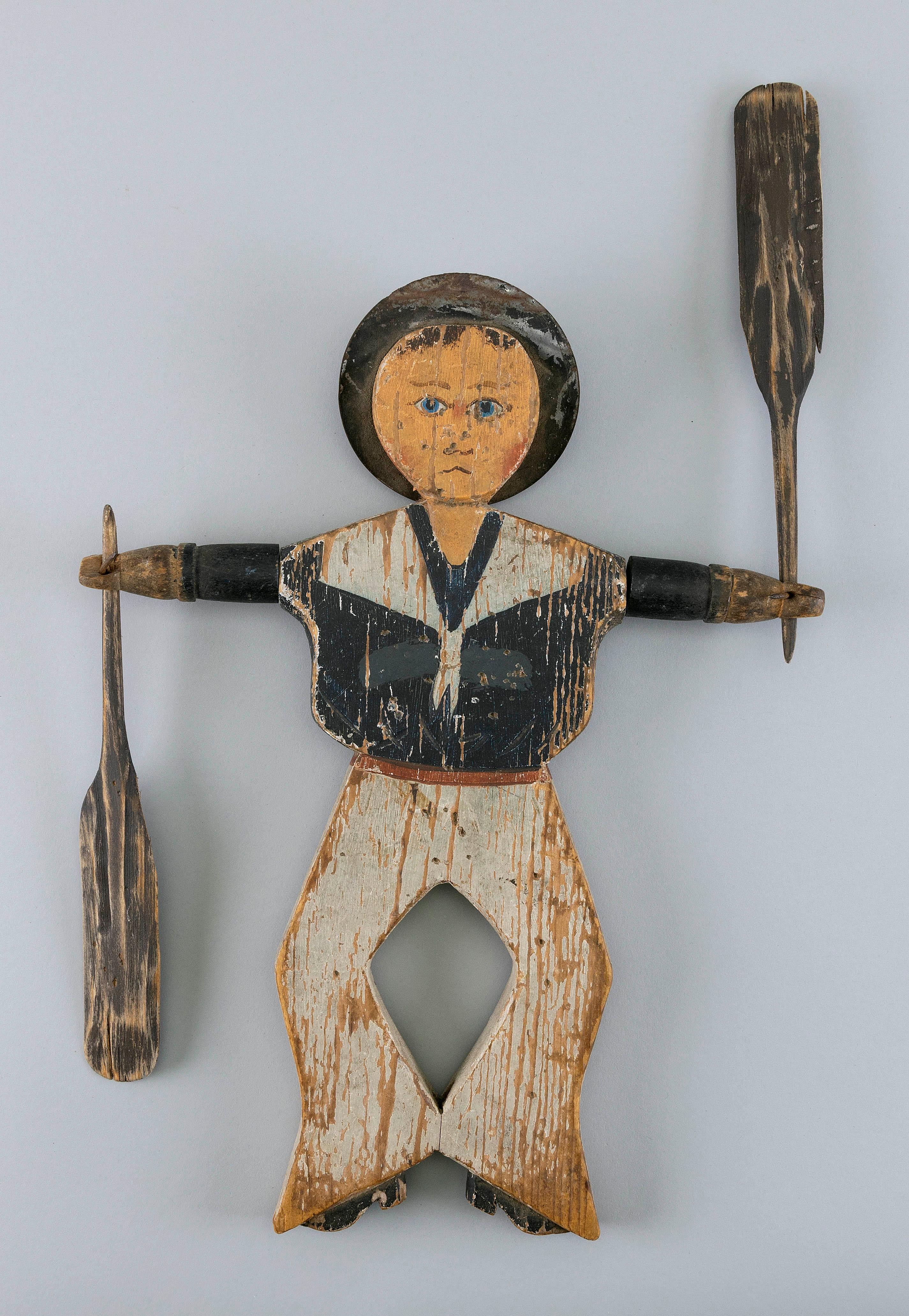 """""""HAPPY JACK"""" WHIRLIGIG Early 20th Century Height 13.75"""". Width 9.75""""."""