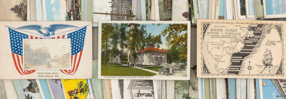 (VIEW) MAINE: 255 POSTCARDS Early to Mid-20th Century