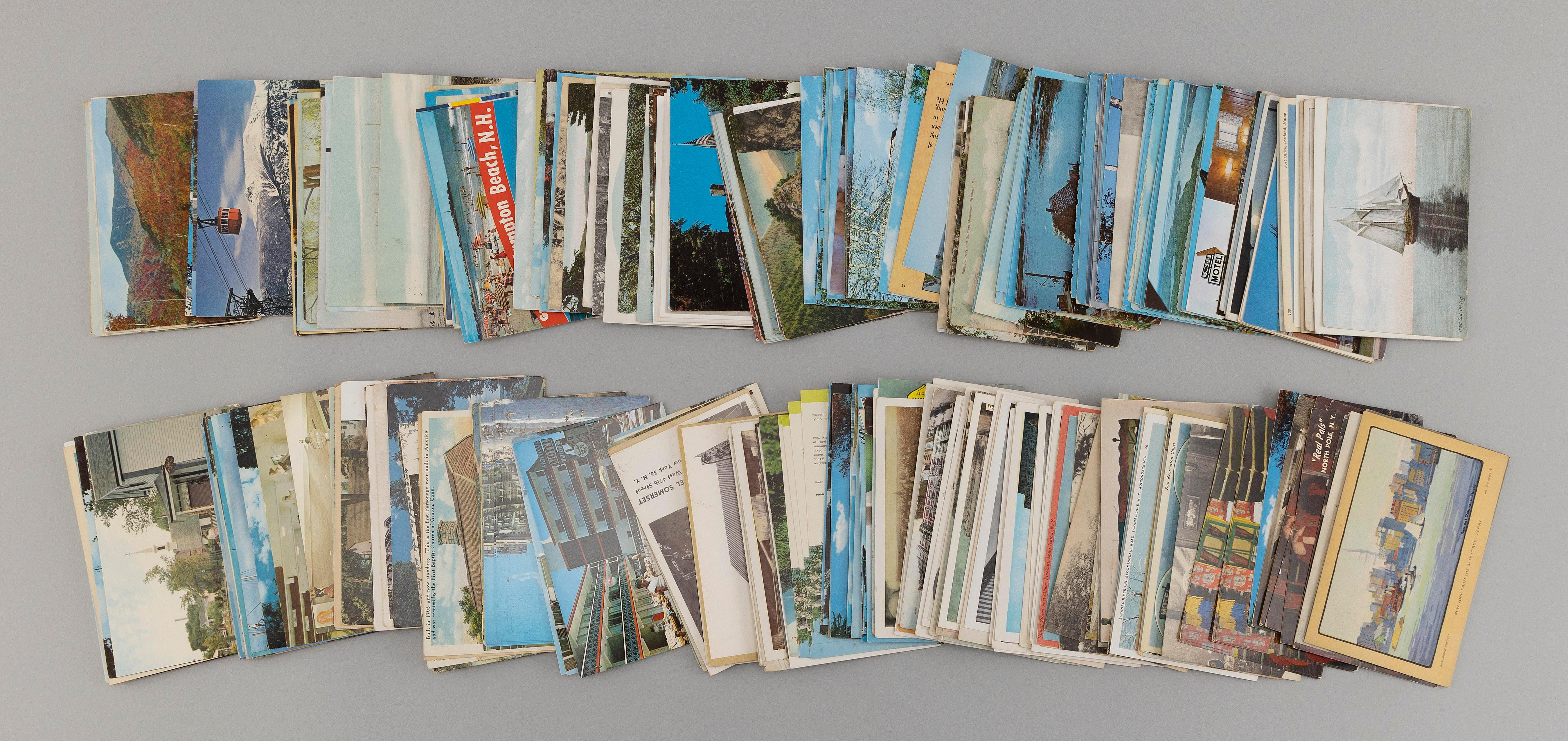 (VIEW) NEW ENGLAND, NEW JERSEY AND NEW YORK: 303 POSTCARDS Early to-Mid 20th Century