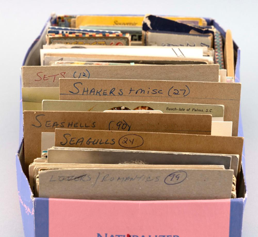 (TOPICAL) BOXED LOT OF ROMANCE THROUGH WORLD'S FAIR: APPROX. 550 POSTCARDS Early to Mid-20th Century
