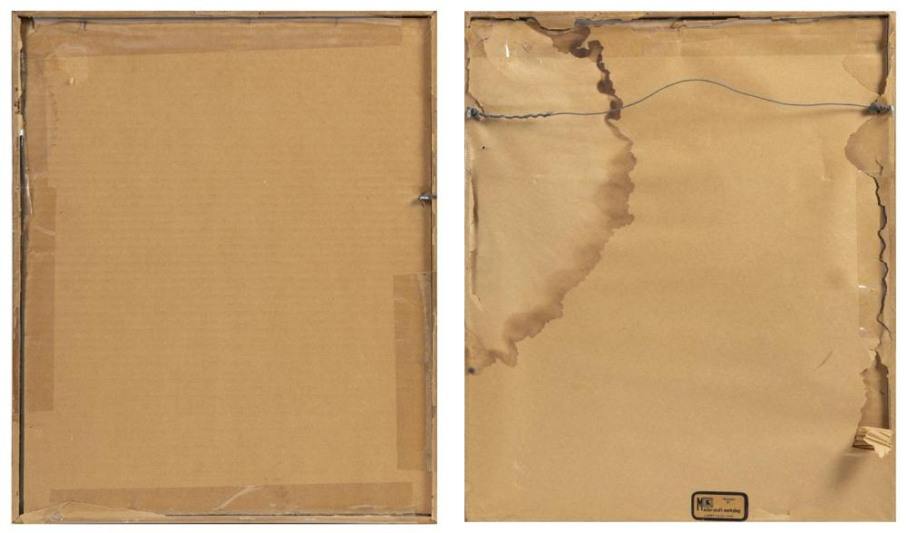 WALTER BUTTS (Northwest America, d. 1996), Two serigraphs:
