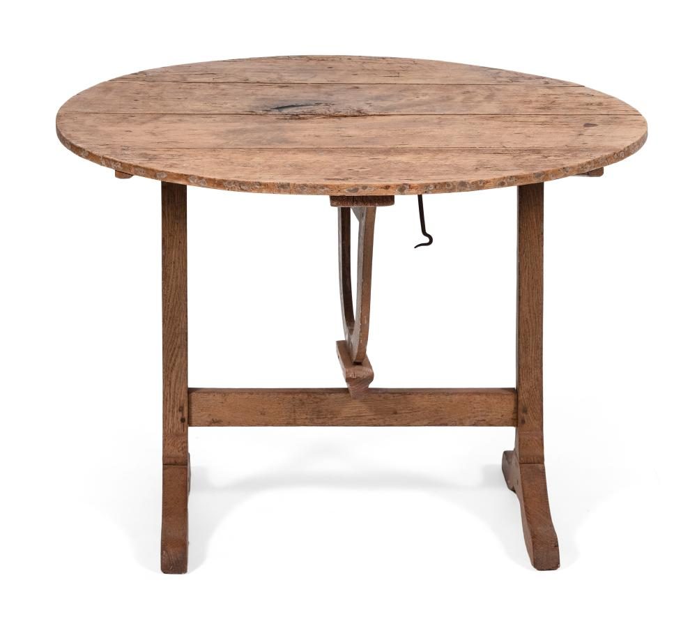 FRENCH TILT-TOP WINE TABLE Early 20th Century Height 27.25