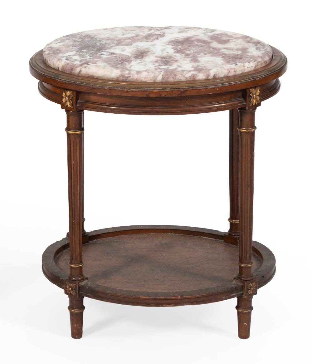 MARBLE-TOP STAND 20th Century Height 23.25