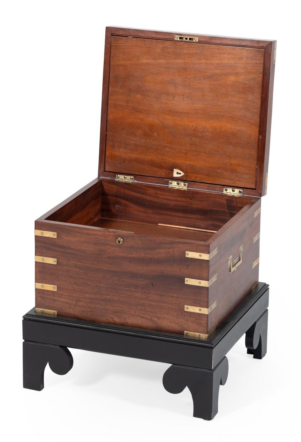 ENGLISH CAMPAIGN BOX 19th Century Height 9.75