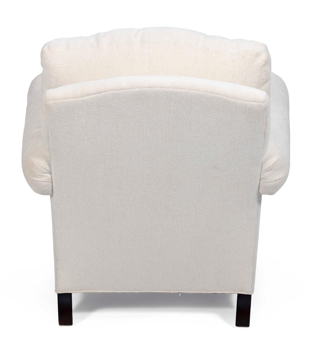 LILLIAN AUGUST UPHOLSTERED ARMCHAIR AND MATCHING OTTOMAN Contemporary Chair back height 33