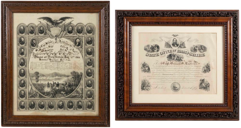 THREE CIVIL WAR-RELATED ITEMS 1860s