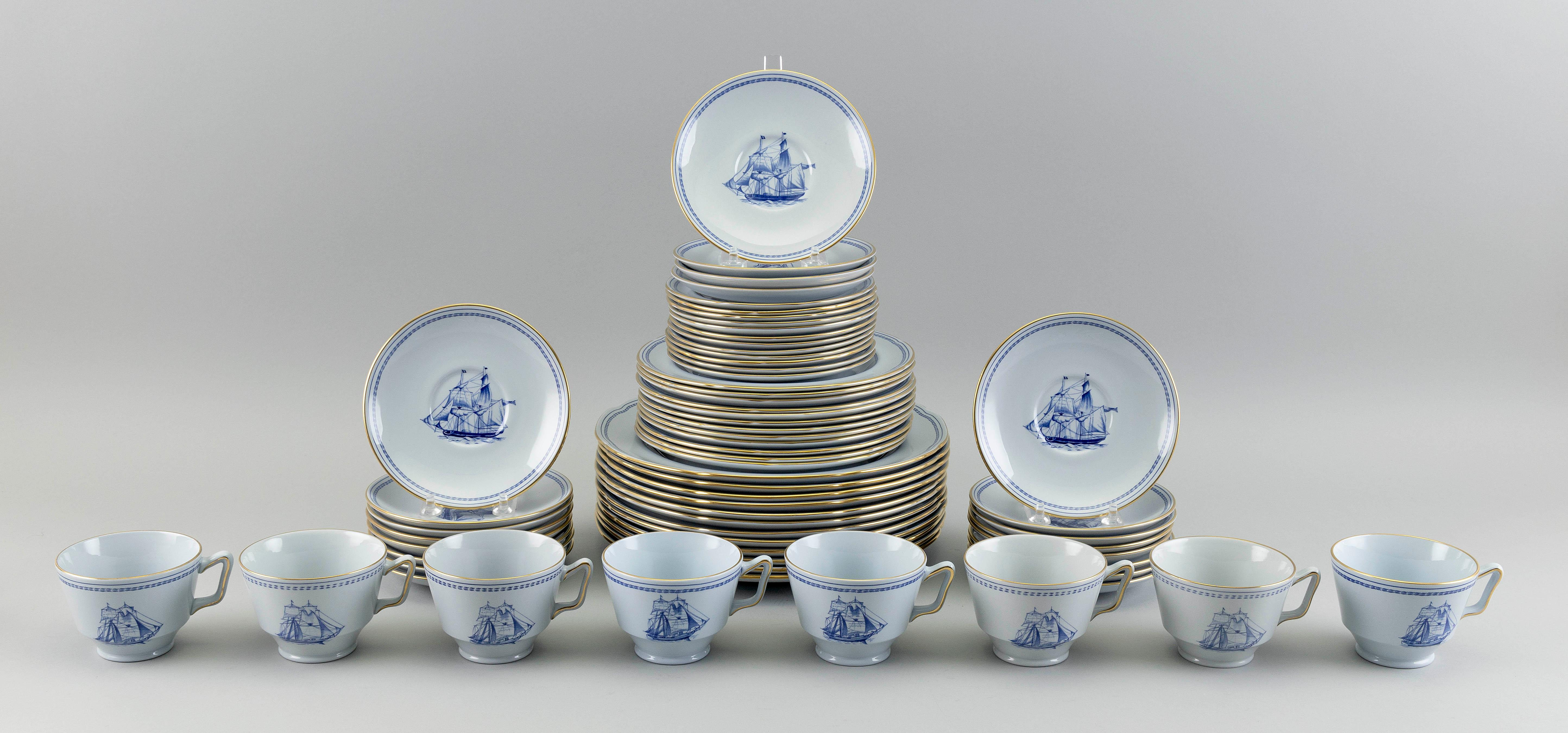 """SET OF SPODE """"TRADE WINDS"""" BLUE CHINA 20th Century"""