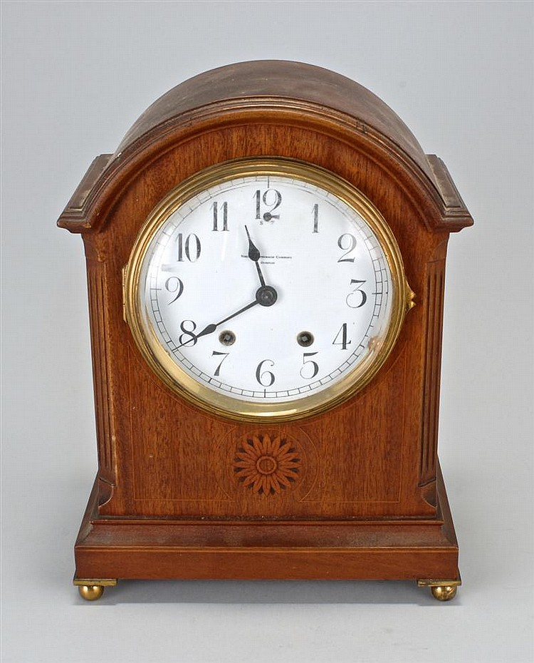 DOME-TOP MANTEL CLOCK Dial marked