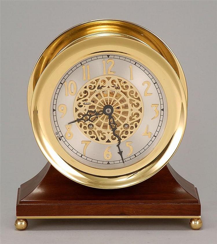CONTEMPORARY CHELSEA DESK CLOCK Centennial model. Dial signed