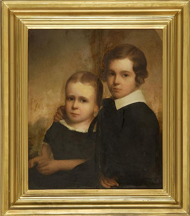 NATHANIEL JOCELYN, American, 1796-1881, Portrait of two young boys., Oil on panel, 24½