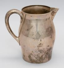 REED & BARTON STERLING SILVER WATER PITCHER After a Paul Revere style. Monogrammed. Height 7.75