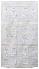 EXQUISITELY QUILTED AND TRAPUNTO WALL HANGING BY ELIZABETH GURRIER An amazing tour de force of quilting. White on white embroidered...