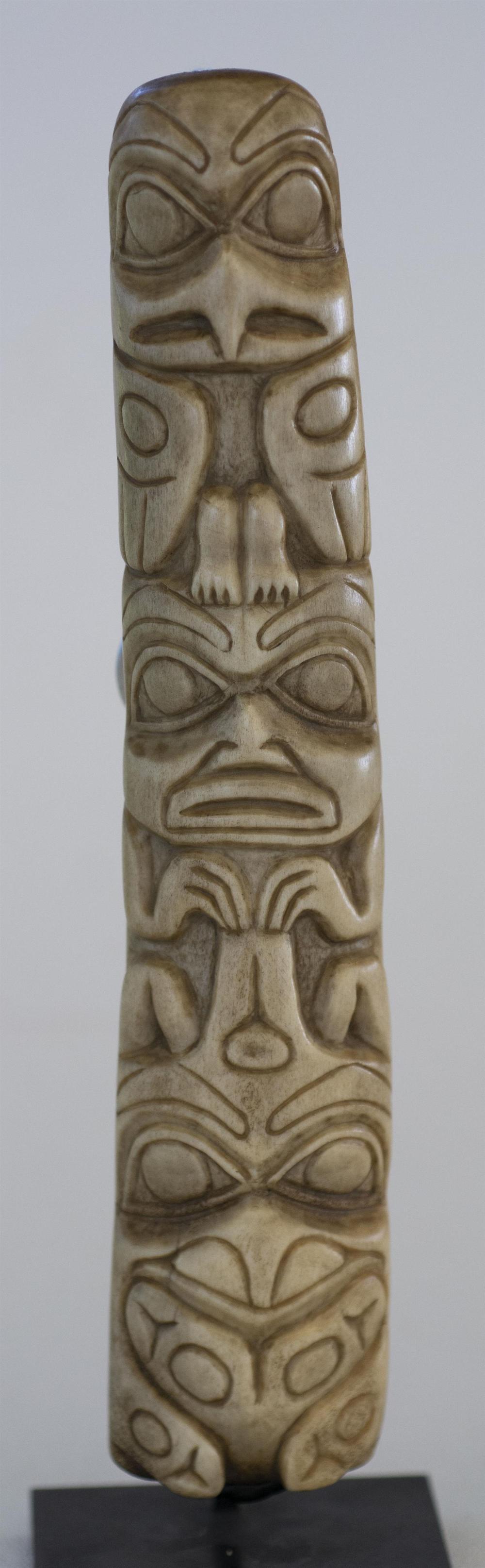 Northwest Coastal Carved Bone Totem Height 7 5 Width 1 5